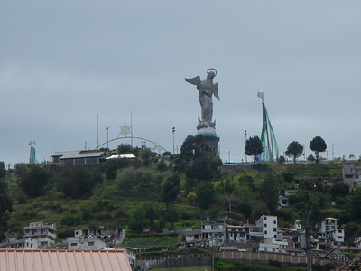 El Panecillo hill with statue of the Madonna