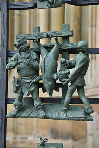 on gate at St. Vitus Cathedral